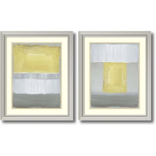 Caroline Gold 'Half Light- set of 2' Framed Art Print 27 x 33-inch Each