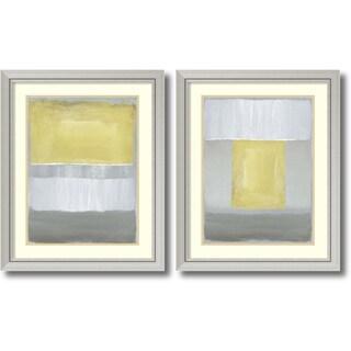 Framed Art Print 'Half Light - set of 2' by Caroline Gold 27 x 33-inch Each