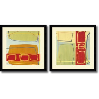 Danielle Hafod 'Concentric- set of 2' Framed Art Print 33 x 33-inch Each