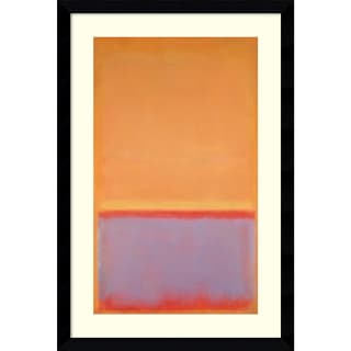 Framed Art Print 'Untitled, 1954' by Mark Rothko 29 x 43-inch