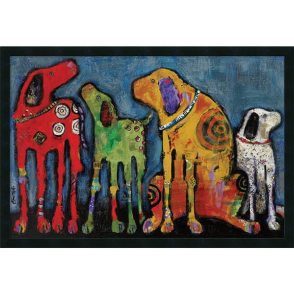 Framed Art Print 'Best Friends' by Jenny Foster 38 x 26-inch
