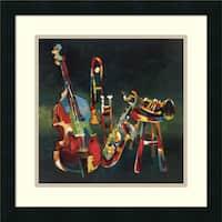 Framed Art Print 'Ensemble' by Elli and John Milan 18 x 18-inch