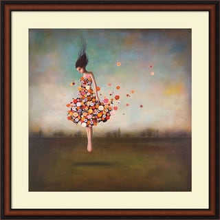 Duy Huynh 'Boundlessness in Bloom' Framed Art Print 34 x 34-inch
