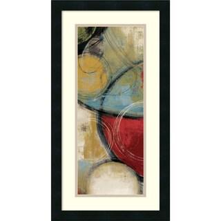 Tom Reeves 'Elemental Circles I' Framed Art Print 14 x 26-inch