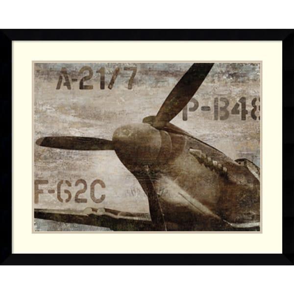 Framed Art Print \'Vintage Airplane\' by Dylan Matthews 41 x 33-inch ...