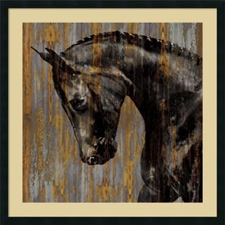 Framed Art Print 'Horse I' by Martin Rose 34 x 34-inch