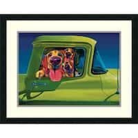 Framed Art Print 'I Wanna Go!' by Ron Burns 27 x 22-inch