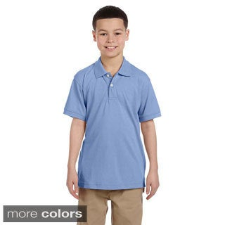 Youth Easy Blend Polo Shirt (Option: White)