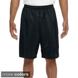 A4 Men's 9-inch Inseam Mesh Shorts (Option: Silver)