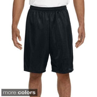 A4 Men's 9-inch Inseam Mesh Shorts (Option: Purple)|https://ak1.ostkcdn.com/images/products/9268941/P16433038.jpg?impolicy=medium