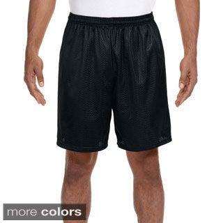 A4 Men's 7-inch Inseam Mesh Shorts (Option: Silver)