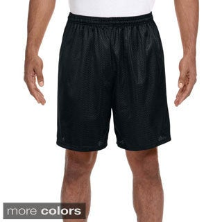A4 Men's 7-inch Inseam Mesh Shorts (Option: L)