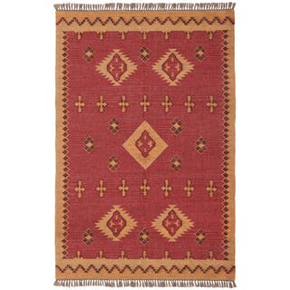 Hand-woven Antiquity Jute and Wool Flat Weave Area Rug (9' x 12')|https://ak1.ostkcdn.com/images/products/9268982/P16433101.jpg?impolicy=medium