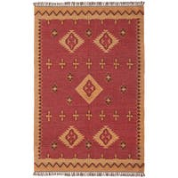 Hand-woven Antiquity Jute and Wool Flat Weave Area Rug (9' x 12') - 9' x 12'