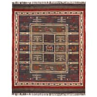 Hand-woven Tribal Wool and Jute Area Rug (12' x 18')