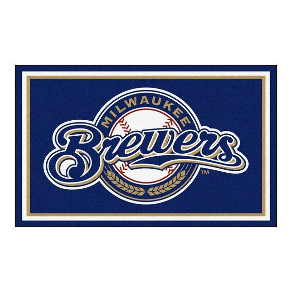 Fanmats MLB Milwaukee Brewers Area Rug (4' x 6')