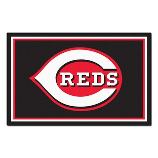 Fanmats Mlb Cincinnati Reds Area Rug 4 X 6