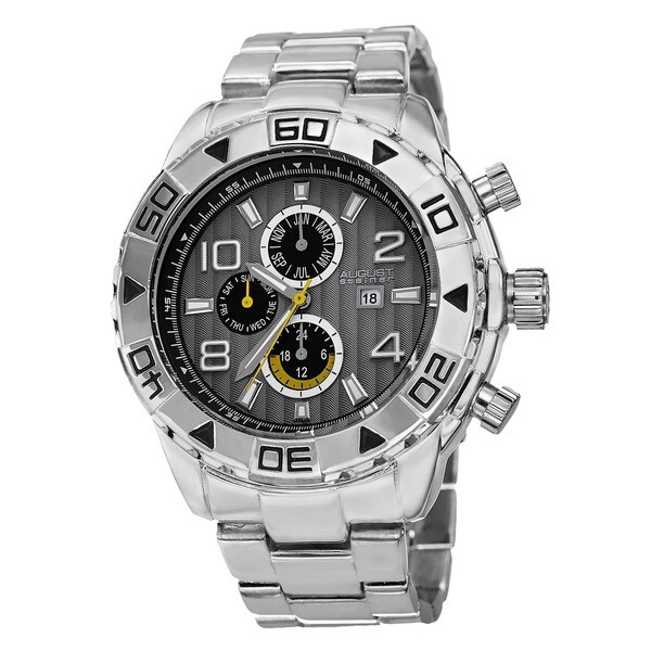 August Steiner Men's Swiss Quartz Multifunction Month Black Bracelet Watch. Opens flyout.