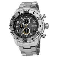 August Steiner Men's Swiss Quartz Multifunction Month Silver-Tone Bracelet Watch