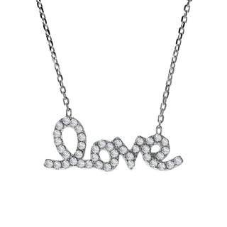 Exquisite Charm of Love Cubic Zirconia .925 Silver Necklace (Thailand)