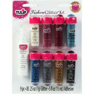 Tulip Fashion Glitter Kit .25oz 9/Pkg-Multicolor