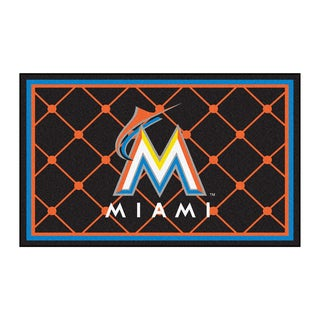 Fanmats MLB Miami Marlins Area Rug (4' x 6')
