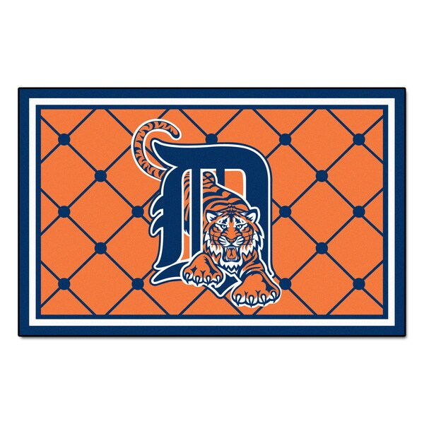Fanmats MLB Detroit Tigers Area Rug (4' X 6')