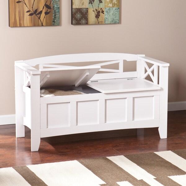 harper blvd corin white storage bench free shipping today 16433128. Black Bedroom Furniture Sets. Home Design Ideas