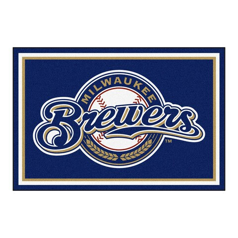Fanmats MLB Milwaukee Brewers Area Rug (5' x 8')