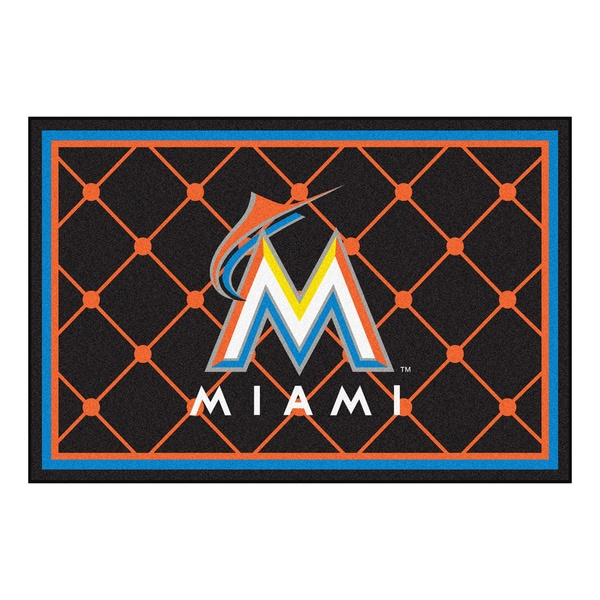 Fanmats MLB Miami Marlins Area Rug (5' x 8')