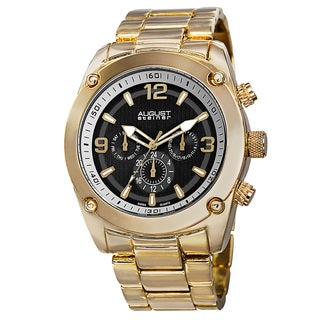 August Steiner Men's Swiss Quartz Multifunction Gold-Tone Bracelet Watch