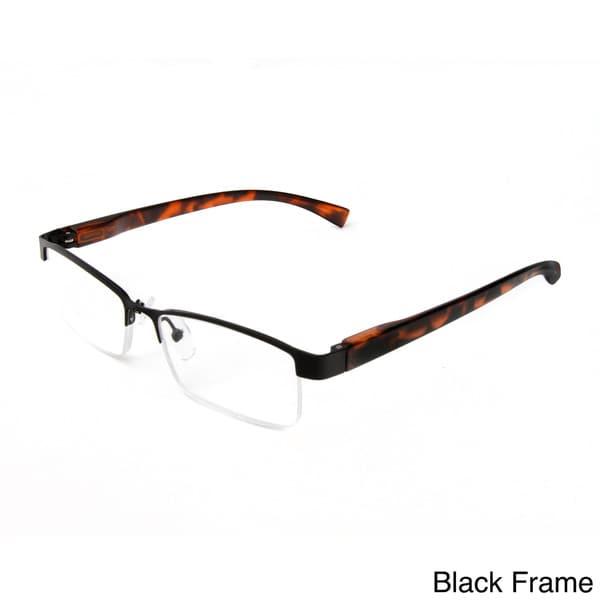 fa1a45afe3 Shop Hot Optix Unisex Metal Half-frame Reading Glasses - Free ...