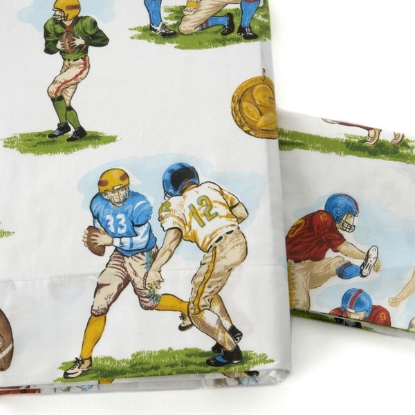 Football 280 Thread Count 100-Percent Cotton Sheet Set