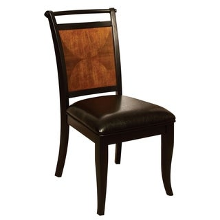 Furniture of America Saldi Acacia and Black Finish Dining Chair (Set of 2)