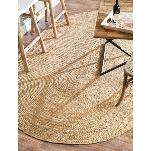 Havenside Home Duck Braided Reversible Oval Jute Area Rug (2'3 x 4')