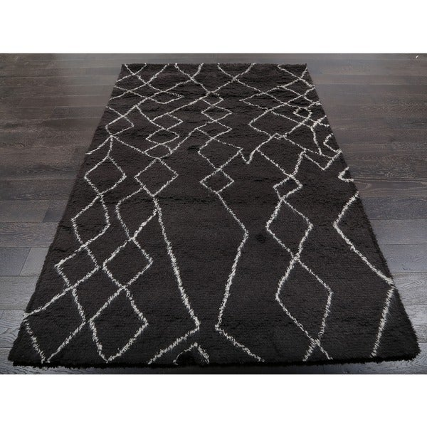 Shop ABC Accents Beni Ourain Moroccan Charcoal Wool Area
