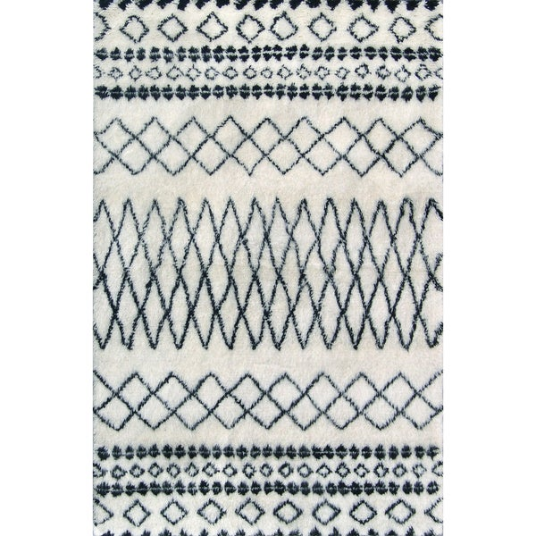 Shop ABC Accents Beni Ourain Moroccan Ivory Wool Area Rug