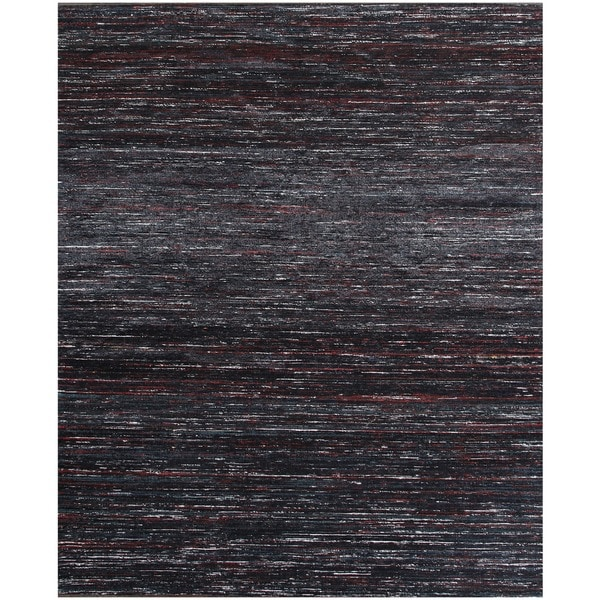 Shop ABC Accents Handmade Textured Sari Silk Black Wool