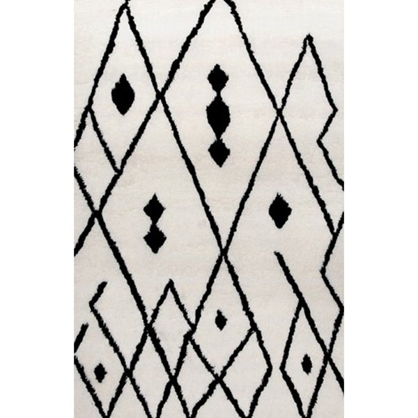 Beni Ourain Moroccan Black/ Ivory Rug