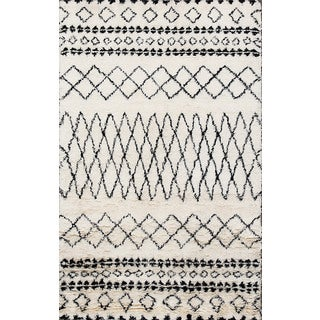 Beni Ourain Moroccan Ivory Wool Area Rug (8' x 10')