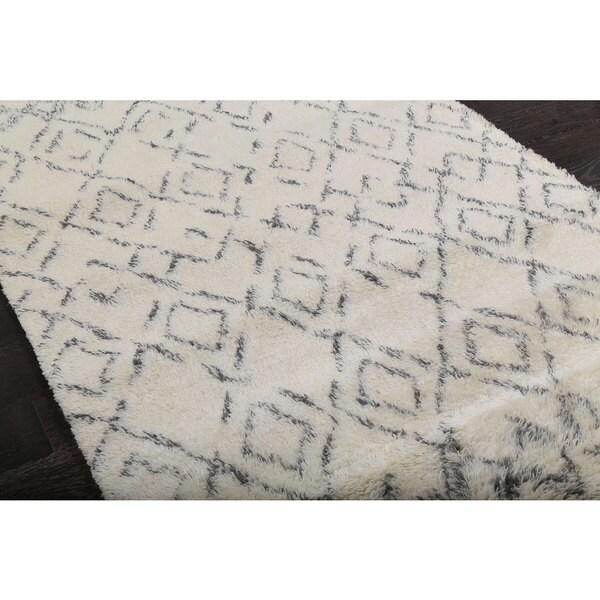 Beni Ourain Moroccan Beige Wool Area Rug (9u0027 X ...