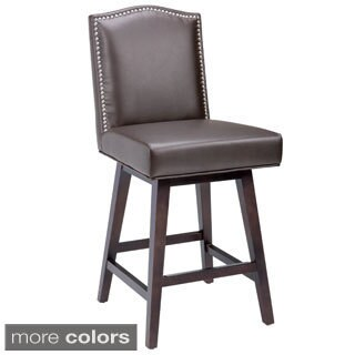 Sunpan '5West' Maison Leather Swivel Counter Stool