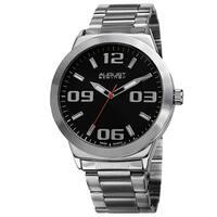 August Steiner Men's Swiss Quartz Stainless Steel Silver-Tone Bracelet Watch