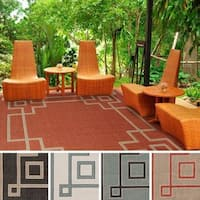 Odette Contemporary Geometric Indoor/ Outdoor Area Rug (8'9 Square) - 8'9