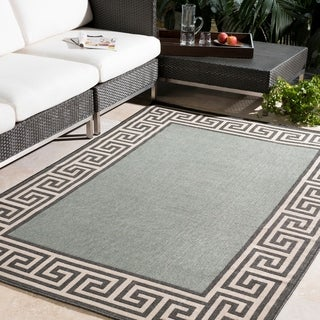 Annette Contemporary Bordered Indoor/ Outdoor Area Rug (8'9 Square)
