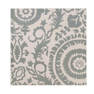 Nina Contemporary Floral Indoor/ Outdoor Area Rug (8'9 Square) - 8'9 x 8'9 (5 options available)