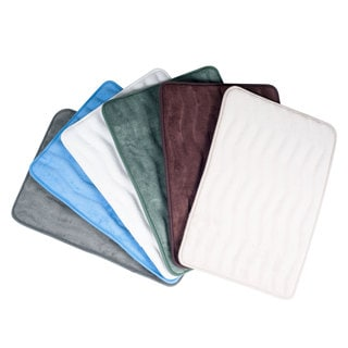 Lavish Home Soft Memory Foam Bath Mat 2-piece Set
