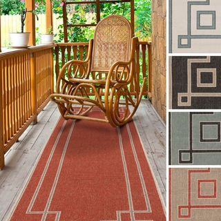 Meticulously Woven Odette Contemporary Geometric Indoor/Outdoor Area Rug (2'3 x 7'9)