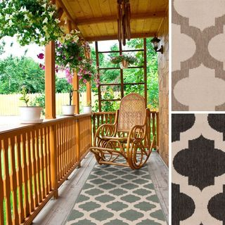 Meticulously Woven Jamie Moroccan Trellis Indoor/Outdoor Area Rug (2'3 x 11'9)
