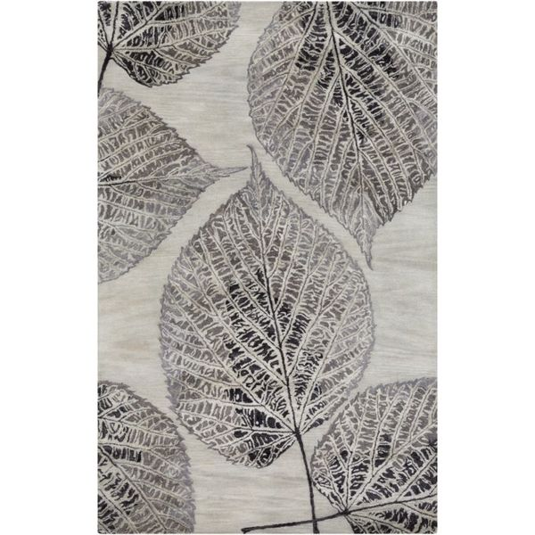 Hand-Tufted Ian Floral New Zealand Wool Area Rug - 5' x 8'
